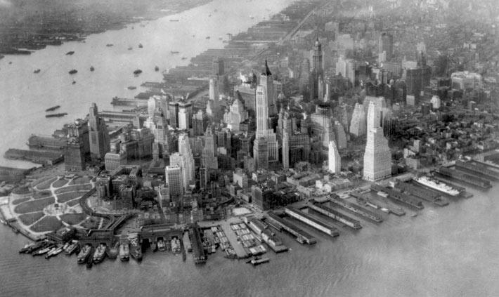 Историческая фотография Манхэттена