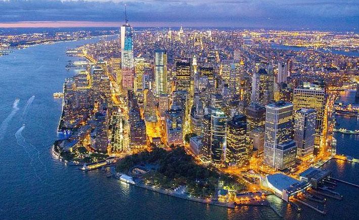 Фотографии Нью-Йорка с вертолета