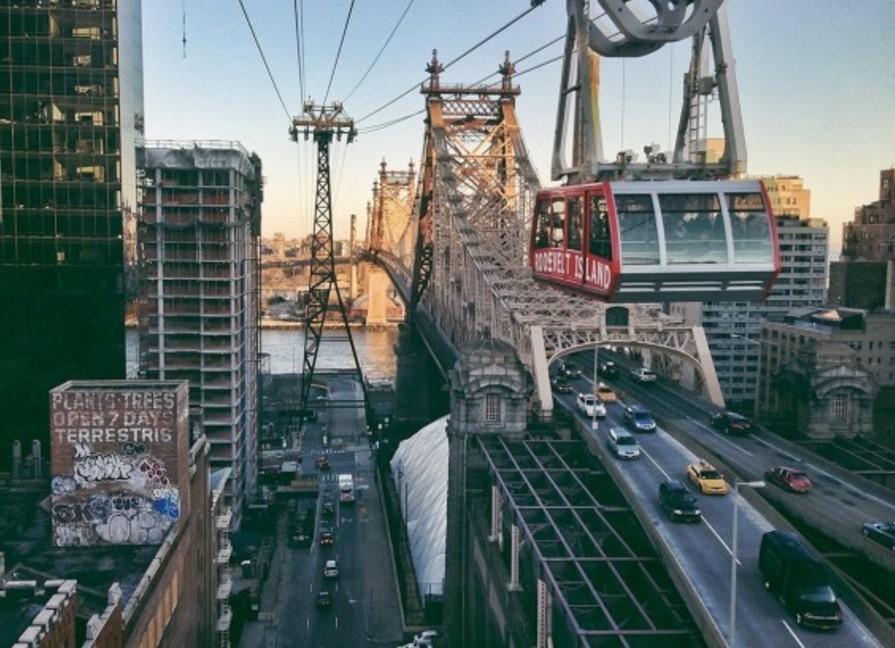 Канатная дорога в Нью-Йорке