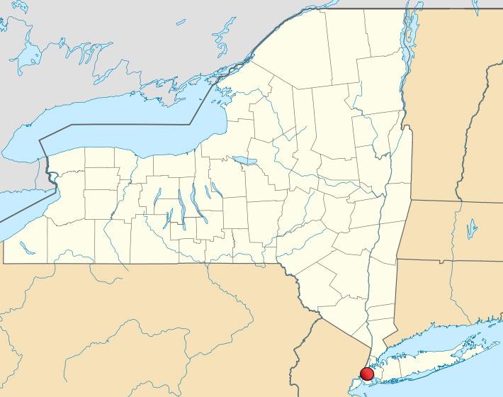 Нью-Йорк на карте США