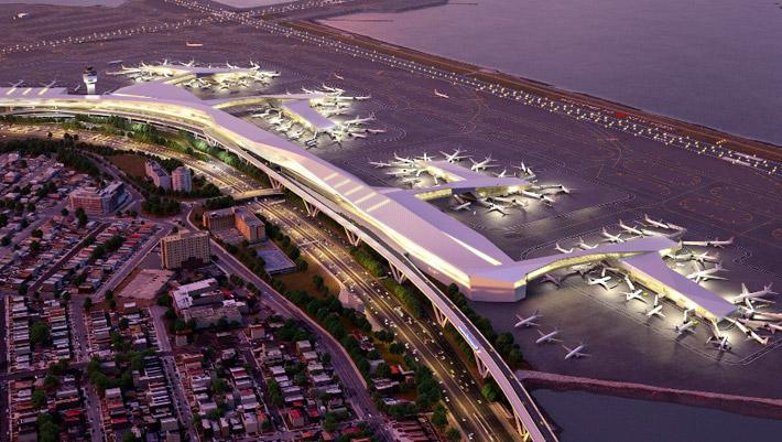 Схема аэропорта Ла Гуардия в Нью-Йорке
