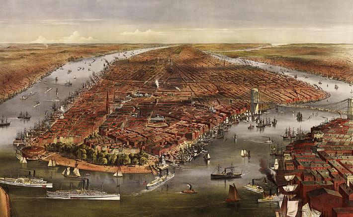 Историческая фотография Нью-Йорка 1870 год