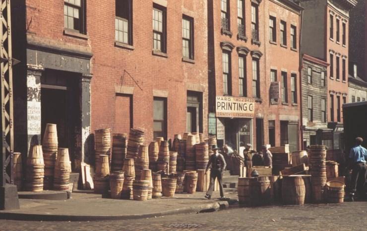 Цветная фотография Нью-Йорк 1942-ой год