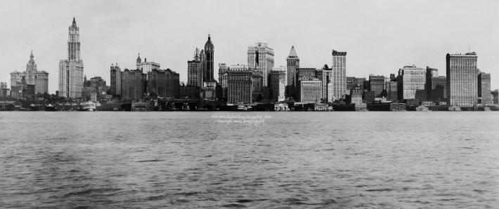 Панорамная фотография города