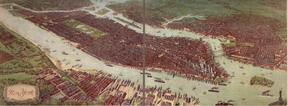 Как выглядел старый Нью-Йорк - панорама
