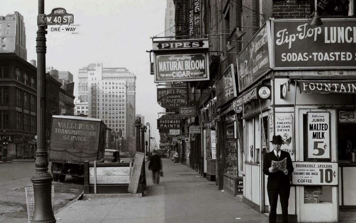 Фотографии Нью-Йорка в 1940-х годах