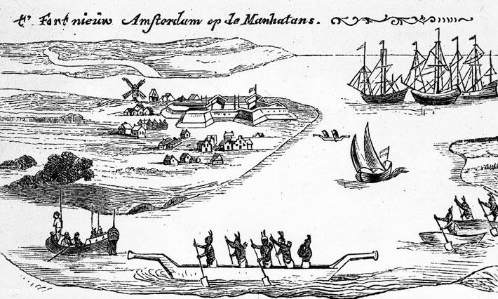 Одно из первых изображений Нового Амстердама